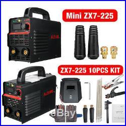 10PC Clamp Kit Mini ARC MMA Stick Welder IGBT Welding Inverter Machine 220V 225A