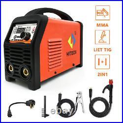 110V 220V HITBOX Mini MMA Inverter Lift TIG Welder ARC Welding Machine DC 180A