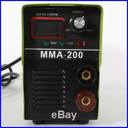 110V Portable Electric Digital Welder Arc Welder Inverter Handheld Mini MMA-200