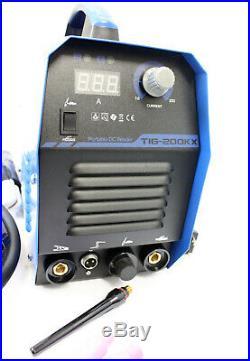 115V 220V Dual Voltage 200 Amp Argon TIG Torch Stick ARC MMA DC Inverter Welder
