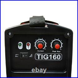 160 Amp TIG Torch Stick Arc MMA DC Inverter Welder Dual Voltage AC Welding