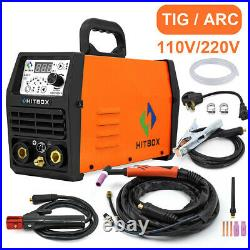 2 in 1 LED TIG Welders Pulse 200AMP 110V/220V HF ARC Stick TIG Welding Machine