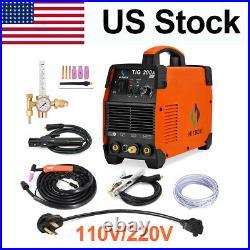 200A TIG Welder 110V/200V Dual Volt DC Inverter HF IGBT ARC TIG Welding Machine