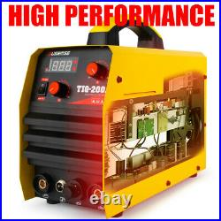 200Amp DC Inverter TIG Welder TIG/MMA ARC Welder 110/220V Welding Machine