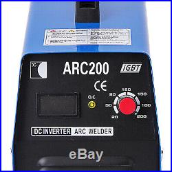 200Amp Stick/Arc/MMA DC Inverter Welder IGBT Electric Welding Machine 110/220V