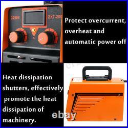 220V 6000W 30-200A MMA Handheld IGBT Inverter Electric ARC Welding Machine Tool