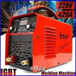220V ARC-420 Portable MMA ARC Welder IGBT Welding Machine Soldering Inverter