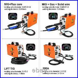 3 in 1 LED 180A 110V 220V MIG Welder Inverter MIG ARC Lift TIG Welding Machine