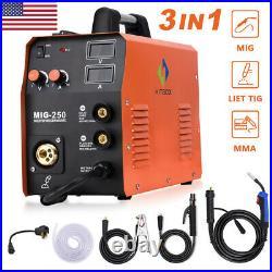 3 in 1 MIG 250 MIG Welder Inverter 200A TIG ARC MIG Welding Machine 110V 220V
