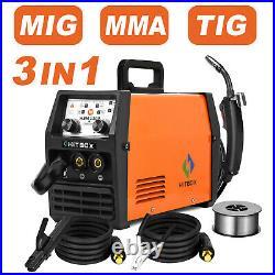 3 in1 MIG TIG ARC Welder 220V Lift TIG ARC Wire Gasless Inverter Welding Machine