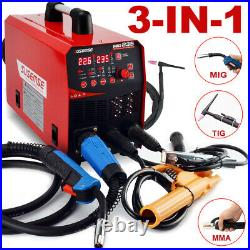 3 in1 MIG Welder 110V 220V Gasless Inverter Lift TIG ARC Welding Machine 200A