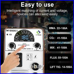 4 in1 LED MIG Welder Inverter 180A -Gas ARC TIG MIG Welding Machine 110V 220V