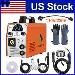 4 in1 MIG Welder 110V 220V 180A Gasless/Gas ARC TIG MIG Welding Machine Inverter