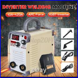 420 AMP Welding Machine MMA IGBT Inverter Welder Arc Force With Clamp Mask