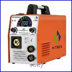 4in 1 LED MIG Welder 110V 220V Dual Volt DC Inverter ARC TIG MIG Welding Machine