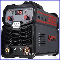 Amico ARC-160DC, 160A Stick Arc TIG DC Inverter Welder, 80% Duty Cycle 100V-250V
