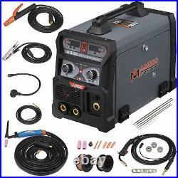 Amico MTS-205, 205-Amp MIG TIG Stick Arc 3-in-1 Combo Welder, 100-250V Welding