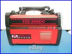 Amico Power TIG-200DC, 200 Amp TIG-Torch, Stick Arc DC 110/230V Inverter Welder