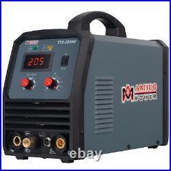 Amico TIG-205HF, 205 Amp TIG Stick Arc 2-in-1 DC Inverter Welder, 100% HF-Start