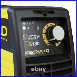 Bossweld S180 STICK ARC INVERTER WELDER 180Amp 240V Take Up To 4.0mm Electrode
