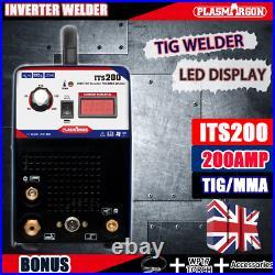 DC Inverter TIG Arc Welder 200Amps HF Start TIG Welding Machine &Torches Kits