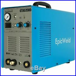 EPICWELD Plasma Cutter GTA5200D 50 A /200 A Tig Arc Mma Welder 110/220V NEW