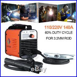 HITBOX 110V 220V Dual Volt ARC Welder Rod Stick MMA ARC Inverter Welding Machine