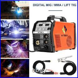 HITBOX 220V MIG200 Welder Gas No Gas MIG ARC Lift TIG Inverter Welding Machine