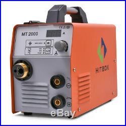 HITBOX 3in1 MIG Welder 220V Inverter ARC lift TIG MIG Welding Machine Mig Welder