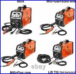 HITBOX 4in1 Welder 200AMP Gas Gasless MIG ARC Lift TIG Inverter Welding Machine