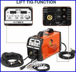 HITBOX Gas Gasless WeldingMIG Welder Inverter MIG MMA ARC Lift TIG 200Amp 220V