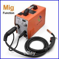 HITBOX MIG WELDER Multi Function MIG ARC LIFT TIG Gasless 220V inverter Welder