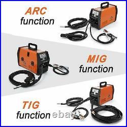HITBOX MIG Welder 220V LIFT TIG ARC Inverter Wire Gasless MIG Welding Machine