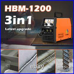 HITBOX MIG Welder Inverter 110V/220V TIG ARC Wire Gasless Welder with TIG Torch