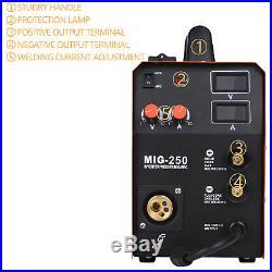 HITBOX MIG Welder MIG250 3 in 1 TIG ARC Welder 220Volt Inverter Welding Machine