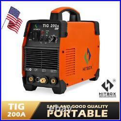 HITBOX TIG ARC 200A Welder 110V 220V Inverter MMA TIG Stick Welding Machine