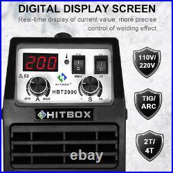 HITBOX TIG Welder 110V/200V Double Volt MMA ARC Welding Machine Portable TIG200A