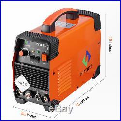 HITBOX TIG Welder 200A 220V IGBT Inverter Welding Machine ARC MMA Arc Unit 2T 4T