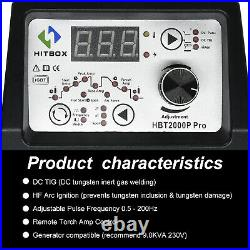 HITBOX TIG Welder 200AMP Pluse Inverter 110V/220V ARC Stick TIG Welding Machine