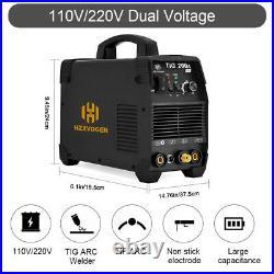 HZXVOGEN 200A TIG Welder 110/220V Inverter IGBT Stick ARC HF TIG Welding Machine