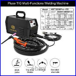 HZXVOGEN 200A TIG Welder Pulse 110V/220V TIG ARC Stick Lift TIG Welding Machine