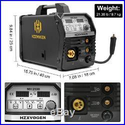 HZXVOGEN 3IN 1 MIG Welder 220V Inverter MIG ARC Lift TIG MIG Welding Machine