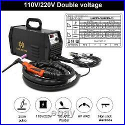 HZXVOGEN ARC Digital Welding Machine 110V 220V 200A Non-stick TIG Welder Pulse