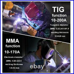 Intelligent TIG Welder 110V 220V PULSE/TIG/ARC 3in1 Cold Welding Machine Helmet