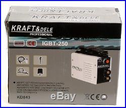 KD843 250A ARC Welder Inverter by Kraft&Dele Professional+2.5kg ELECTRODES