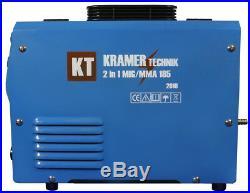 KRAMER 185 inverter welder MIG MAG 160amp FCAW ARC MMA GAS & GASLESS FLUX IGBT