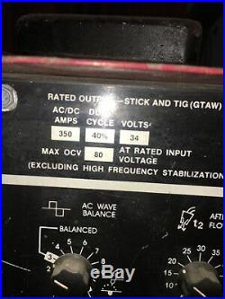 LINCOLN SQUARE WAVE TIG 355 AC DC Arc stick WELDER WORKS High Frequency Inverter
