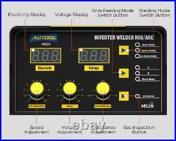 M528 MIG/MAG/TIG/MMA Digital Inverter Welder 160A IGBT Stick Arc Welding Machine