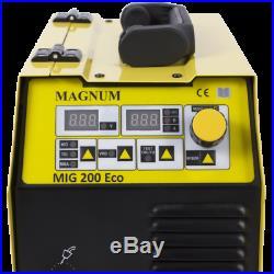 MAGNUM MIG 200 ECO MMA ARC 200Amp VRD HS Synergia Synergic welder inverter