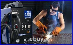 MIG 130 Welder 200Amp Inverter MIG ARC Gas Gasless Welding Machine Dual voltage